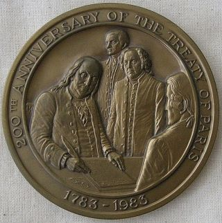 U.  S.  Capitol Historical Society,  Treaty Of Paris Medal,  1983 By Mico Kaufman photo