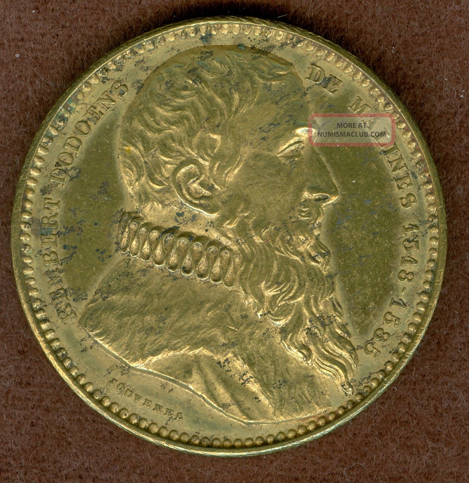 1846 Rembert Dodoens Medal By Adolphe Christian Jouvenel Exonumia photo