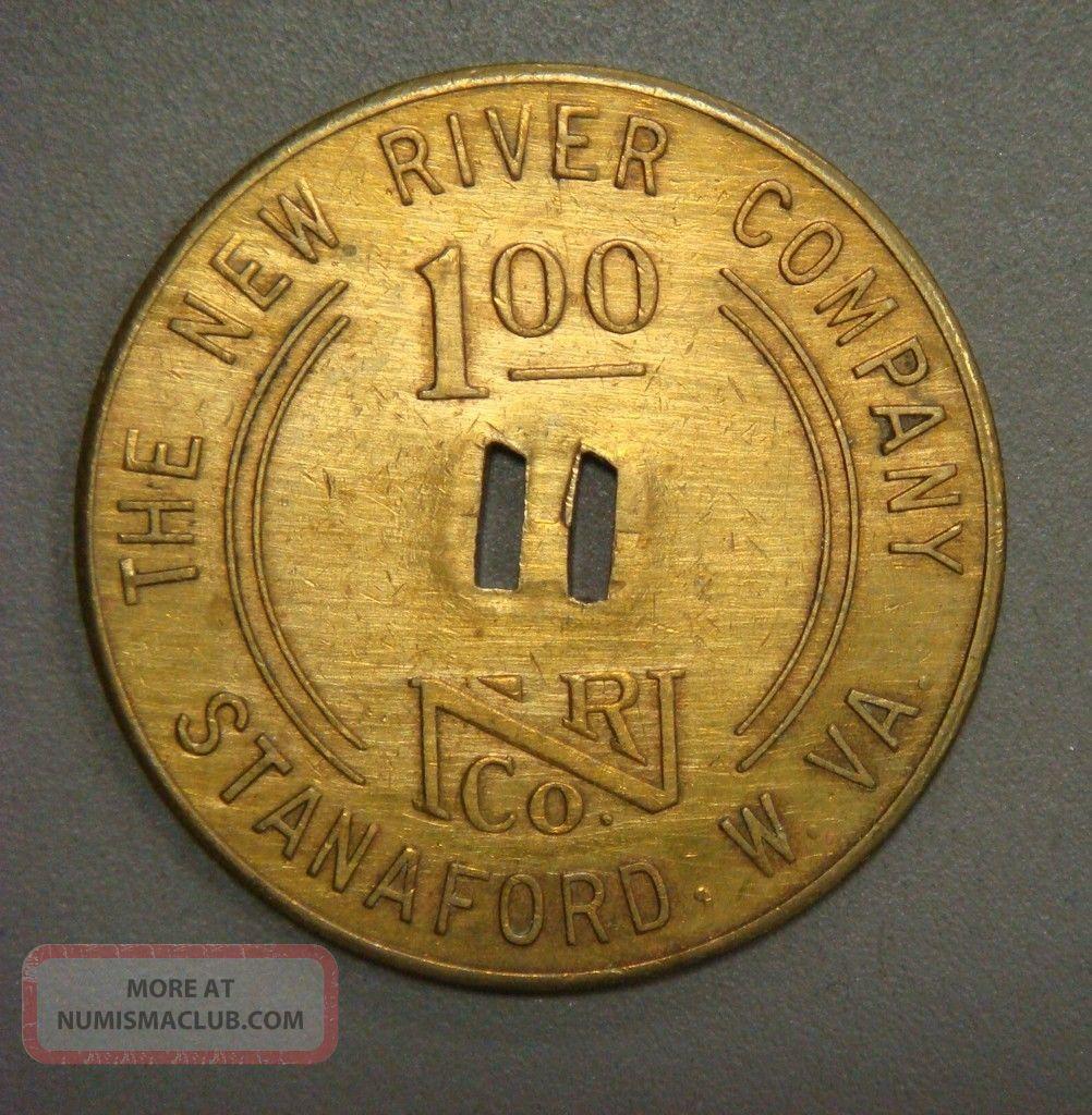 The River Company 1.  00 Stanaford,  W.  Va. Exonumia photo