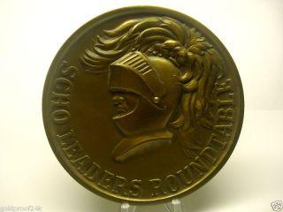 Huge 100mm Excalibur Sword Of Leaders Award Bronze Medal,  T.  Warwick photo