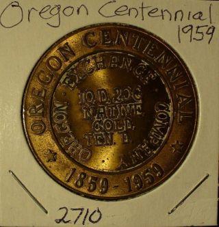 Oregon Centennial Medal photo