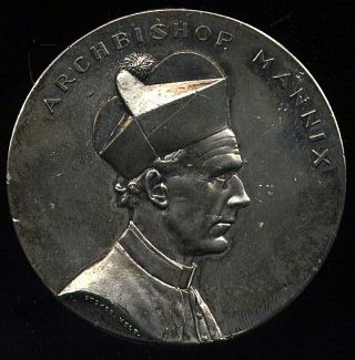 1939 Medal For Victorian Catholic Centenary Featuring Archbishop Mannix Scarce photo