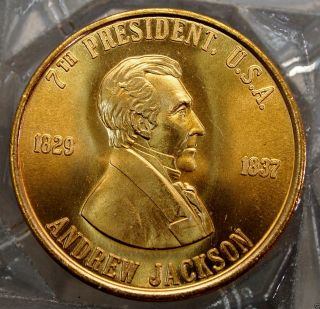 Andrew Jackson 7th President Of The U.  S.  A.  Brass Collectors Token. . .  10508 photo
