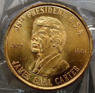 James Earl Carter 39th President Of The U.  S.  A.  Brass Collectors Token. . .  10511 photo