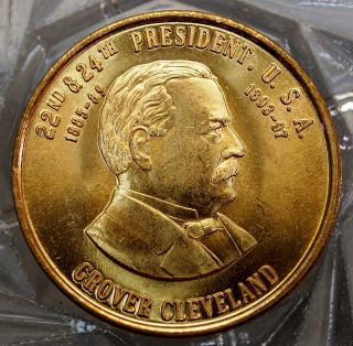 Grover Cleveland 22nd & 24th President Of The U.  S.  A.  Brass Collector Token 10513 photo