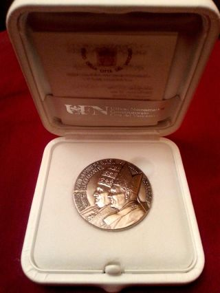 Vatican City 2014 Silver Medal Canonization Popes John Xxiii & John Paul Ii photo