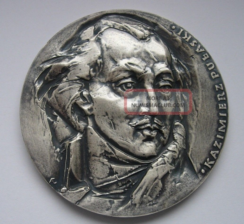 Pulaski Polish American Revolution Cavalry Medal Exonumia photo