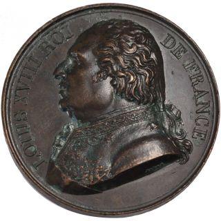 French Medals,  Louis Xviii,  Medal,  Crédit Public Rétabli photo