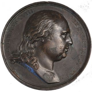 French Medals,  Louis Xviii,  Medal,  Mariage Du Duc De Berry photo