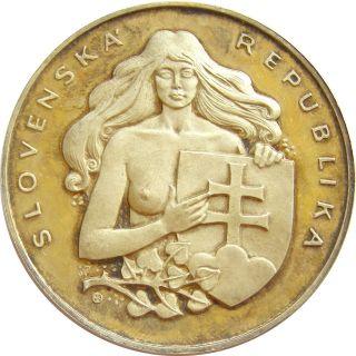 B936 Bratislava Slovakia Slovenska Republika Silvered Medal photo