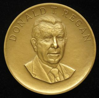 Us Medal No.  229 Treasury Secretary Donald Regan 3