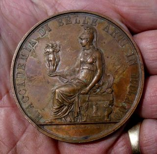 Great 1894 Academy Fine Arts Milan Bronze Medal By Manfredini photo
