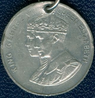 1937 King George Vi Coronation Medal,  Small Version With Ribbon photo