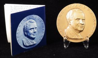 1969 Richard M.  Nixon Official Inaugural Medal Medallic Art Company Bronze photo