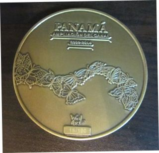 Medal In Tribute To The Expansion Of The Panama Canal.  (2009 - 2014) photo