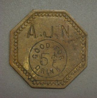 A.  J.  N.  Good For 5¢ Drink photo