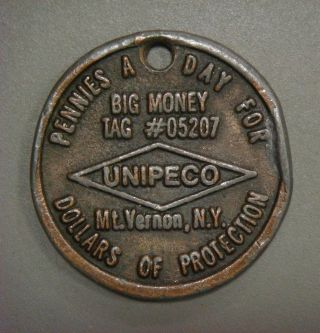 Unipeco,  Pennies A Day. . . ,  Mt.  Vernon,  N.  Y.  Copy Of 1943 Copper Cent photo