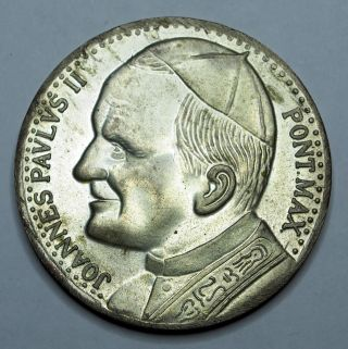 Pope John Paul Ii Medallion - Silver 1979 photo