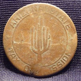 5 Mills,  Arizona Fractional Tax Change Token - 1937 - 1945 - Copper Az - 5 photo