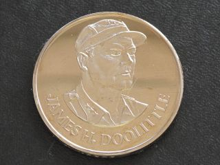 James H.  Doolittle Proof - Quality Solid Bronze Medal Danbury D0354 photo
