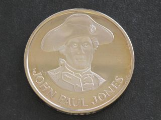 John Paul Jones Proof - Quality Solid Bronze Medal Danbury D0371 photo