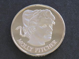 Molly Pitcher Proof - Quality Solid Bronze Medal Danbury D0402 photo