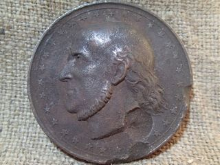 19 Century Carl Morgenstern Large Bronze Medal Antique photo