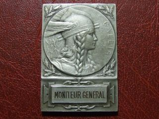Art Nouveau Marianne Gallia As Gaul Worrier 1876 Sport Silver Pl Medal Ch Pillet photo