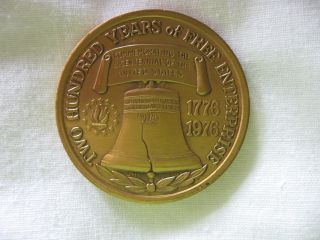 Union Carbide Bicentennial Bronze Medallion Medal