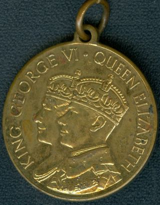 1937 King George Vi Coronation Medal Issued By The Makers Of Rowntree ' S Cocoa photo