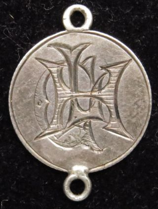 Love Token Charm 1854 Seated Liberty Silver Half Dime Engraved H L G (b19) photo