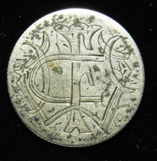 Love Token Charm 1877 Seated Liberty Silver Dime Engraved W F C (b32) photo