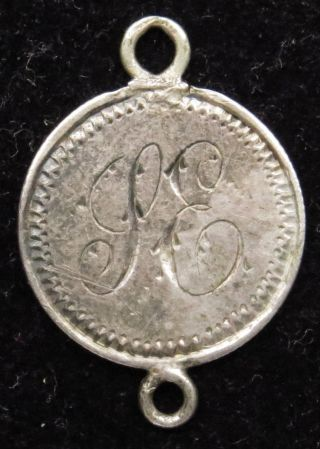 Love Token Charm 1851 Seated Liberty Silver Half Dime Engraved S E (b24) photo