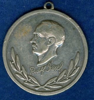 1897 German Medal In Honor Of Rudolf Diesel,  Founder Of Diesel Motors photo