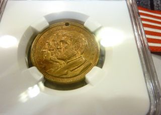 1892 World Medal Expo (ngc Graded) Washington,  Lincoln,  Ulysses In Ms 64 photo