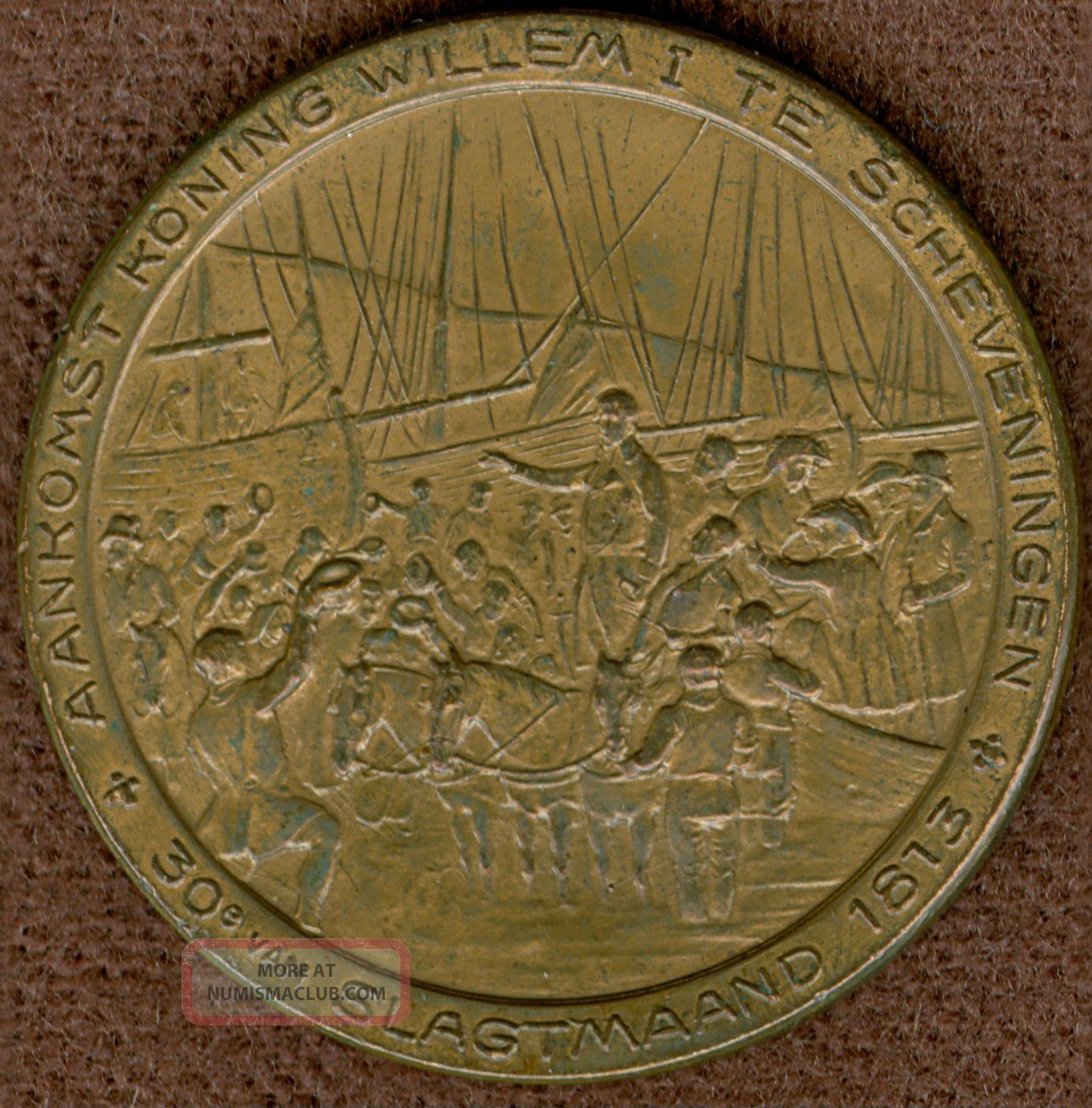 1913 Medal To Commemorate 100 Years Of Holland ' S Independence Exonumia photo