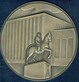 1969 Statute Of King Albert Belgium Medal By A.  Poels photo