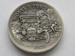 Model T Ford Sterling Silver Medal Great American Triumphs Series D1623 photo