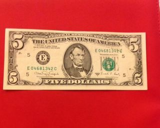 1988 Series A Frn Crisp Uncirculated Note Partial Offset Back To Front photo