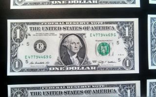 $1 Dollar Bill W Errors photo