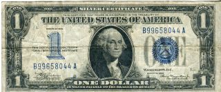 1934 $1 Funny Back Silver Certificate.  A Fine Note And Perfect For The Grade photo
