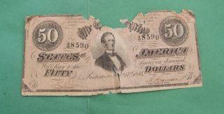 Hgr 1864 $50  Confederate