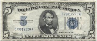 Series 1934 $5 Silver Certificate photo