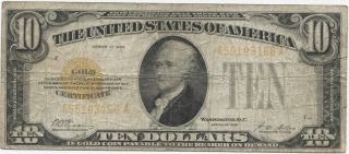 Series 1928 $10 Gold Certificate photo