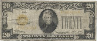 Series 1928 $20 Gold Certificate photo