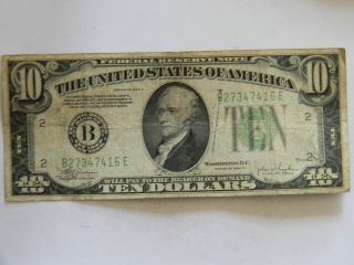 1934c Ten Dollar ($10.  00) Federal Reserve B Series Note photo