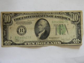 1934c Ten Dollar Federal Reserve B Series Note photo