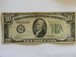 1934c ($10) Ten Dollar Federal Reserve B Series Note photo