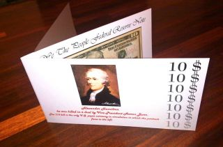 2009 $10 Frn Ten Dollar Note Three Pages Booklet photo
