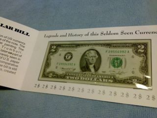 1976 Two Dollar Bill 2$ Federal Reserve Fancy Cover photo